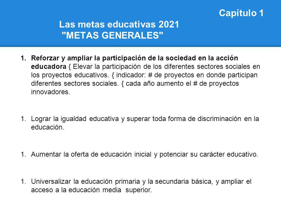 Capítulo 1 Las metas educativas 2021