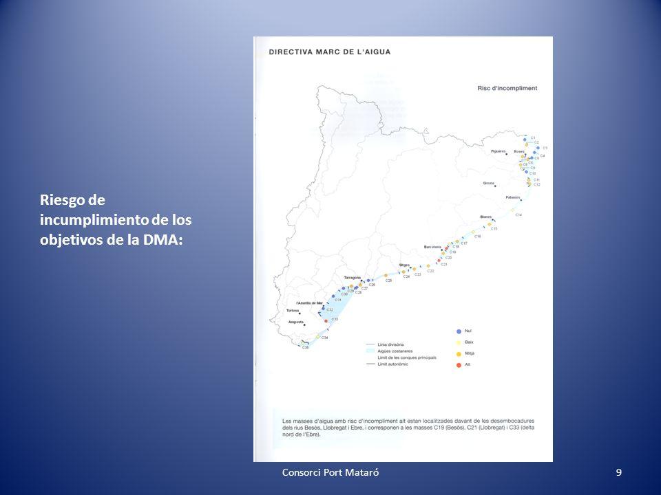 Riesgo de incumplimiento de los objetivos de la DMA: Consorci Port Mataró9