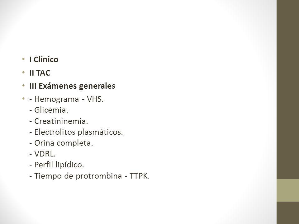 I Clínico II TAC III Exámenes generales - Hemograma - VHS.
