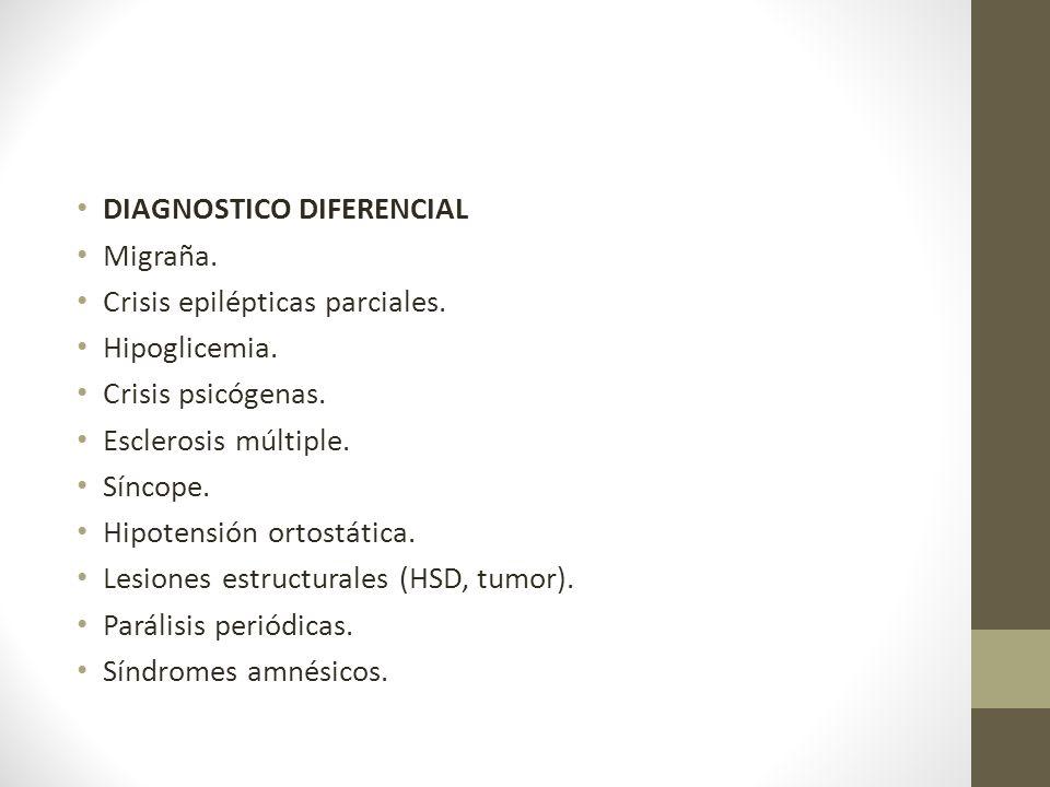 DIAGNOSTICO DIFERENCIAL Migraña.Crisis epilépticas parciales.