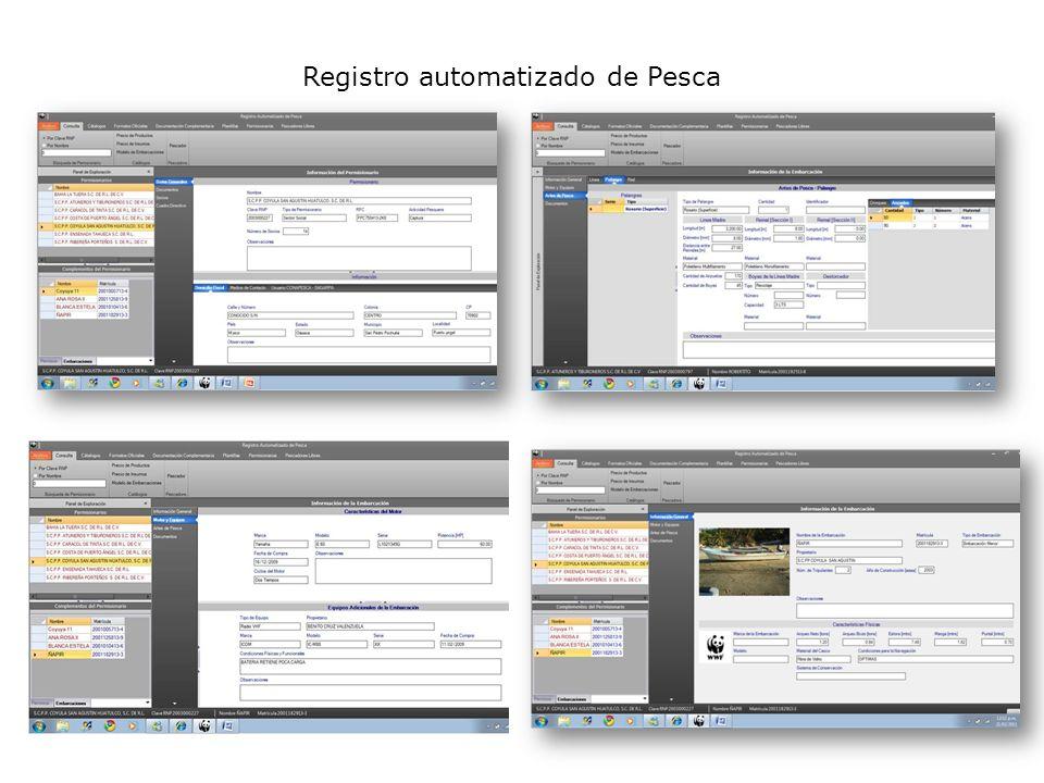 Registro automatizado de Pesca