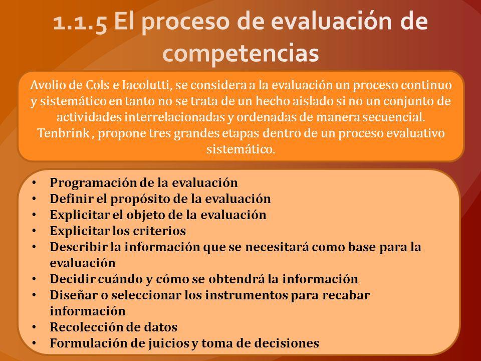 Echeverría (2000, citado en Tejada, 2005) plantea que cualquier plan de evaluación de competencias profesionales debe considerar los siguientes pasos: Establecer claramente las finalidades de la evaluación.