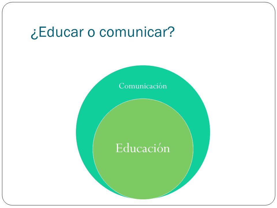 ¿Educar o comunicar? Comunicación Educación