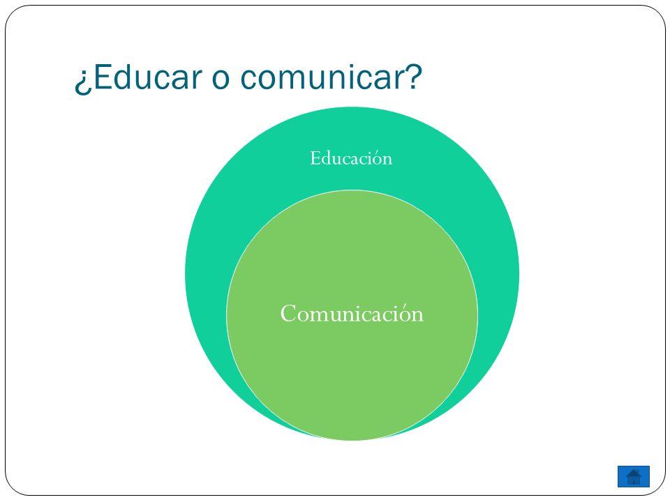 ¿Educar o comunicar? Educación Comunicación