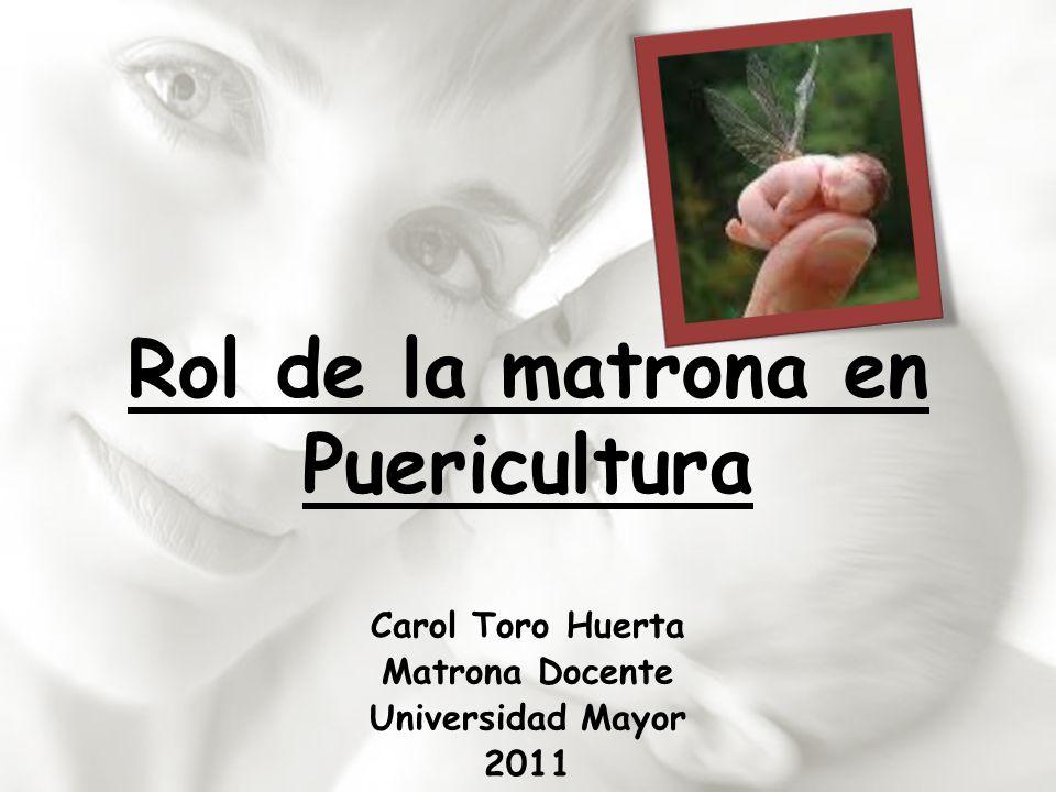 Rol de la matrona en Puericultura Carol Toro Huerta Matrona Docente Universidad Mayor 2011