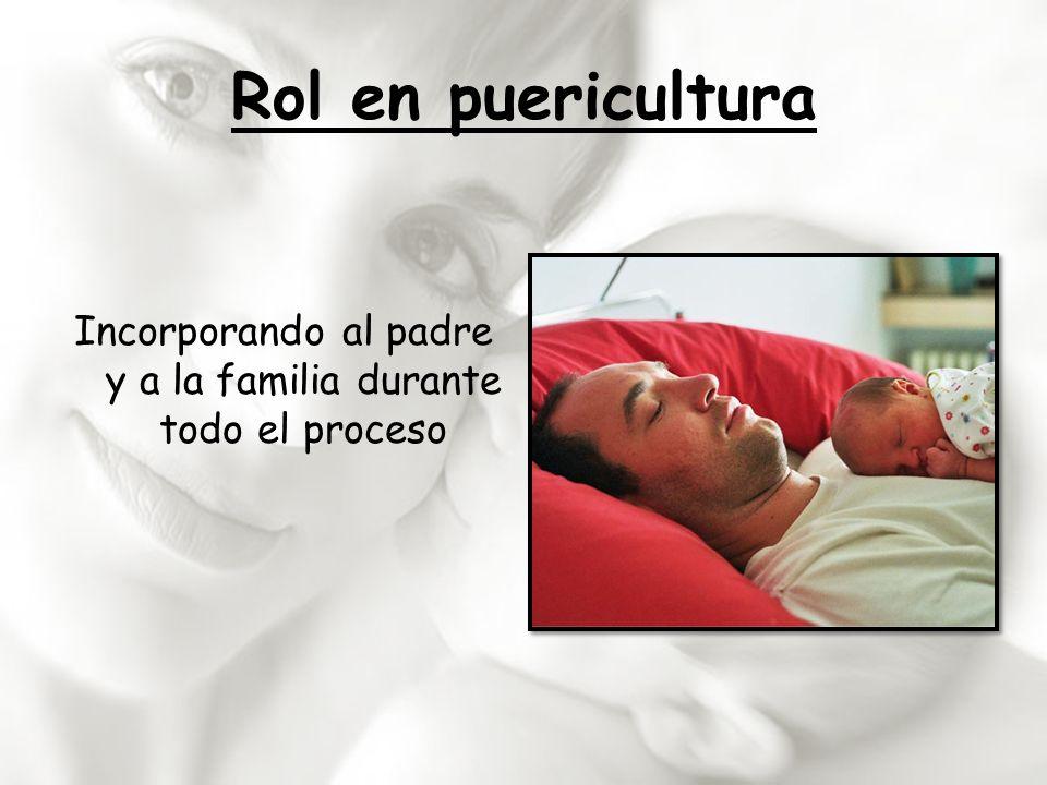 Rol en puericultura Incorporando al padre y a la familia durante todo el proceso
