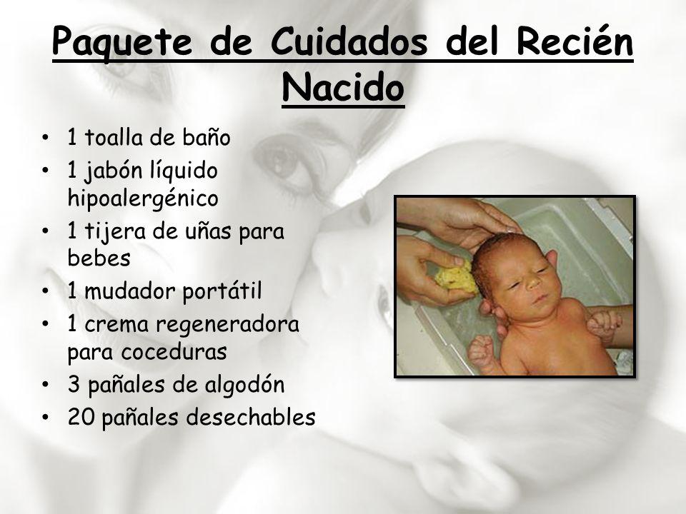 Paquete de Cuidados del Recién Nacido 1 toalla de baño 1 jabón líquido hipoalergénico 1 tijera de uñas para bebes 1 mudador portátil 1 crema regenerad