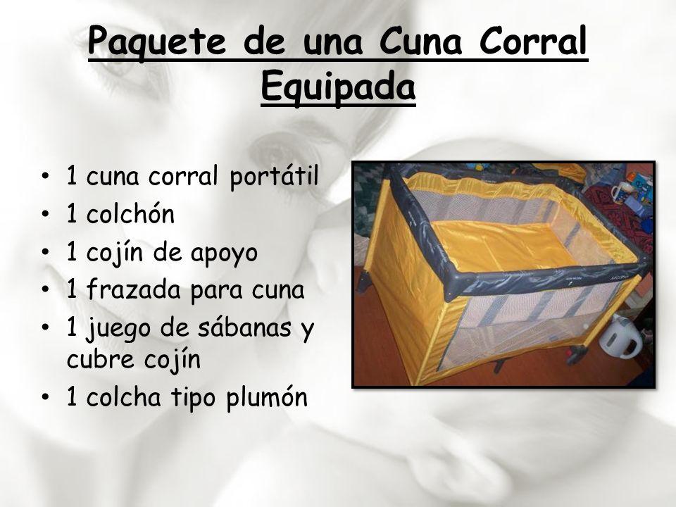 Paquete de una Cuna Corral Equipada 1 cuna corral portátil 1 colchón 1 cojín de apoyo 1 frazada para cuna 1 juego de sábanas y cubre cojín 1 colcha ti