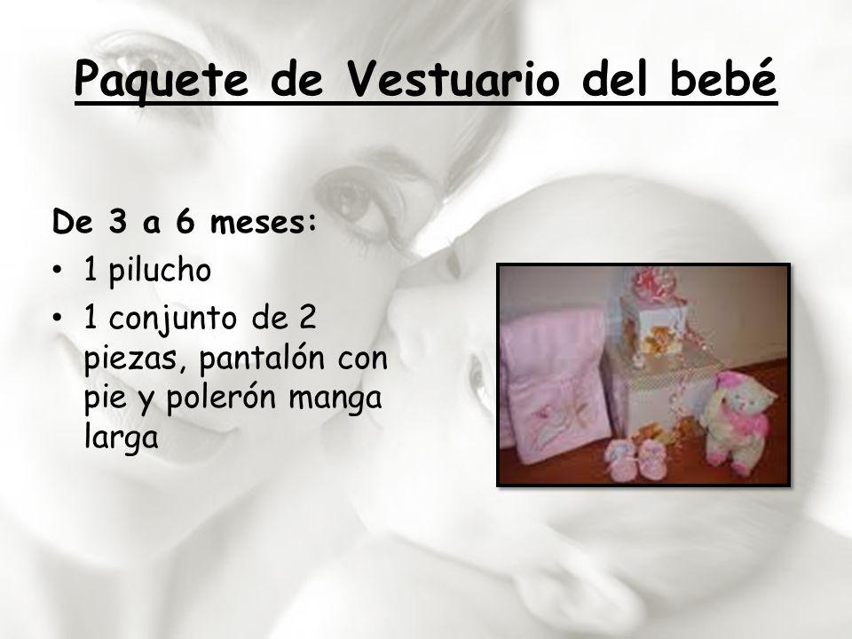 Paquete de Vestuario del bebé De 3 a 6 meses: 1 pilucho 1 conjunto de 2 piezas, pantalón con pie y polerón manga larga