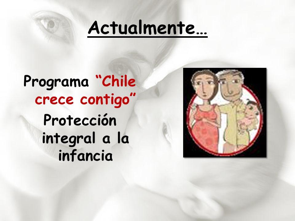 Actualmente… Programa Chile crece contigo Protección integral a la infancia