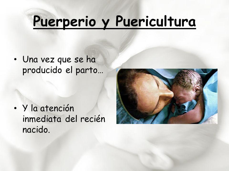 Puerperio y Puericultura Una vez que se ha producido el parto… Y la atención inmediata del recién nacido.