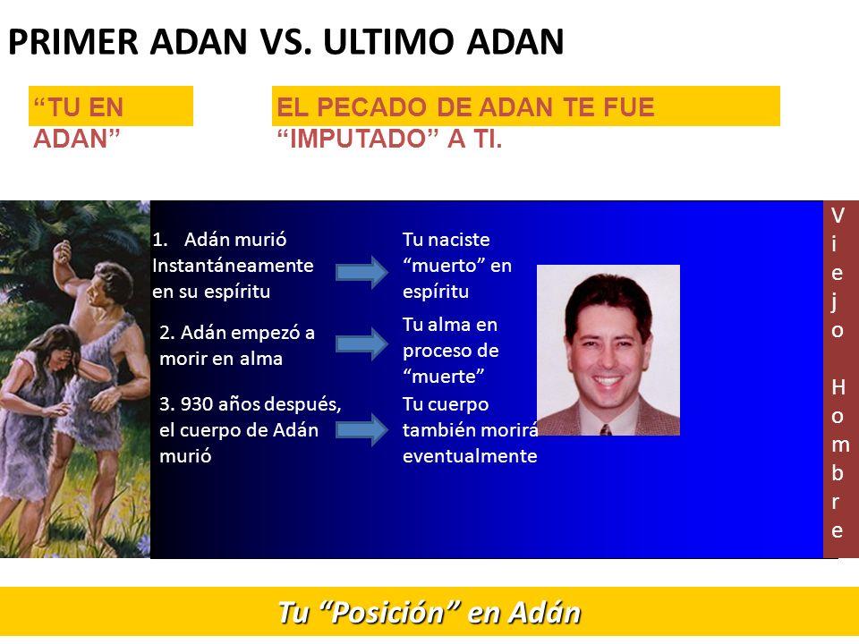 PRIMER ADAN VS.ULTIMO ADAN Tu Posición en Adán 2.