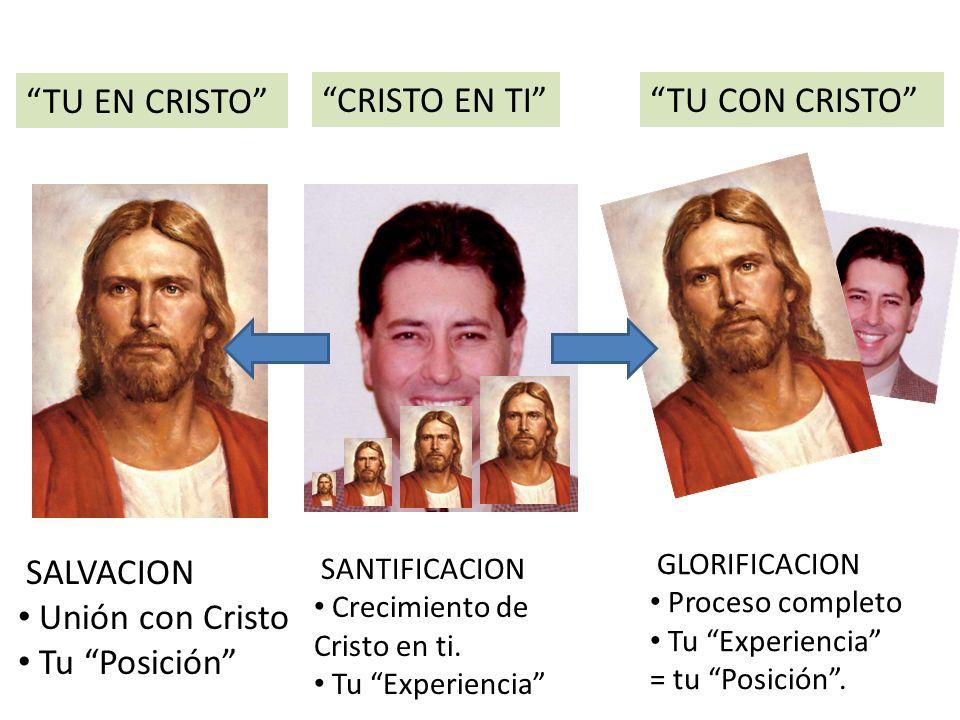 TU EN CRISTO CRISTO EN TITU CON CRISTO SALVACION Unión con Cristo Tu Posición SANTIFICACION Crecimiento de Cristo en ti.