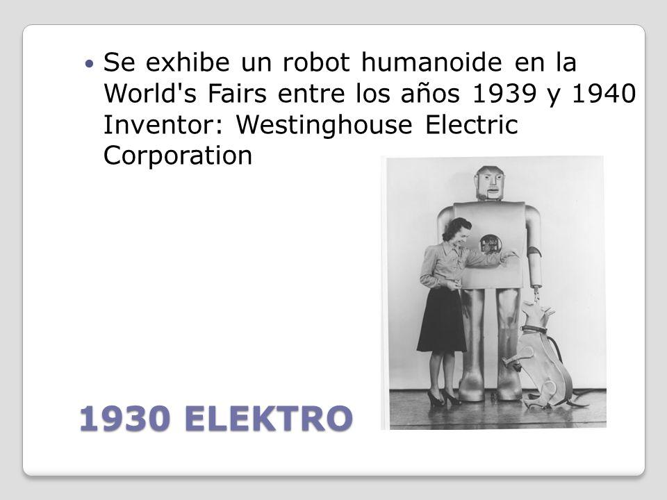 1921 ROSSUMS UNIVERSAL ROBOTS Aparece el primer autómata de ficción llamado