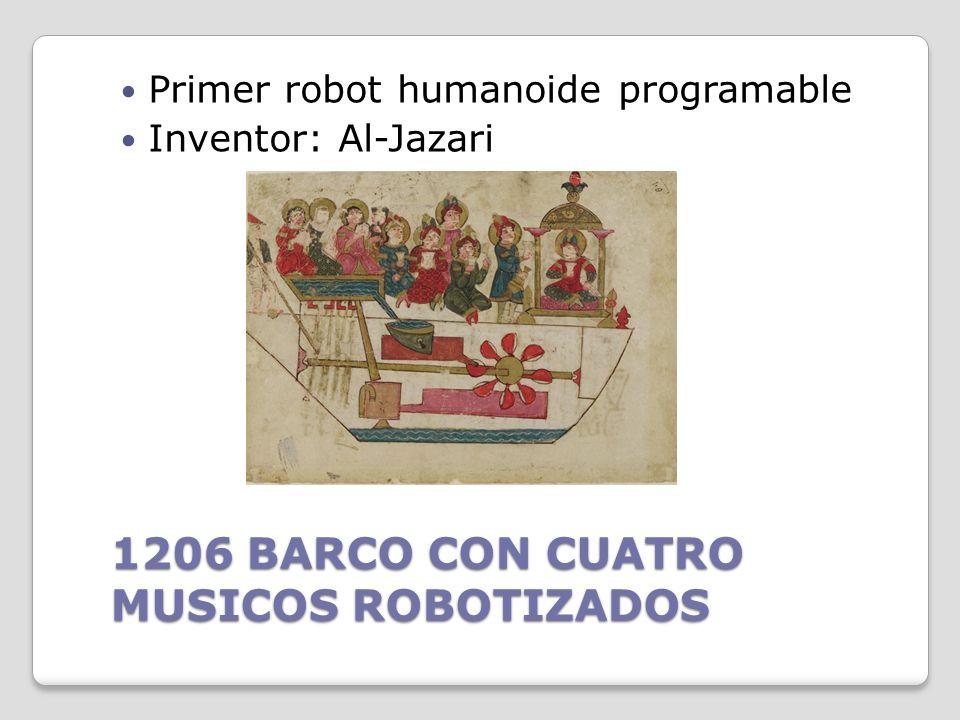 Siglo I a.C. AUTONOMA Descripciones de más de 100 máquinas y autómatas, incluyendo un artefacto con fuego, un órgano de viento, una máquina operada me