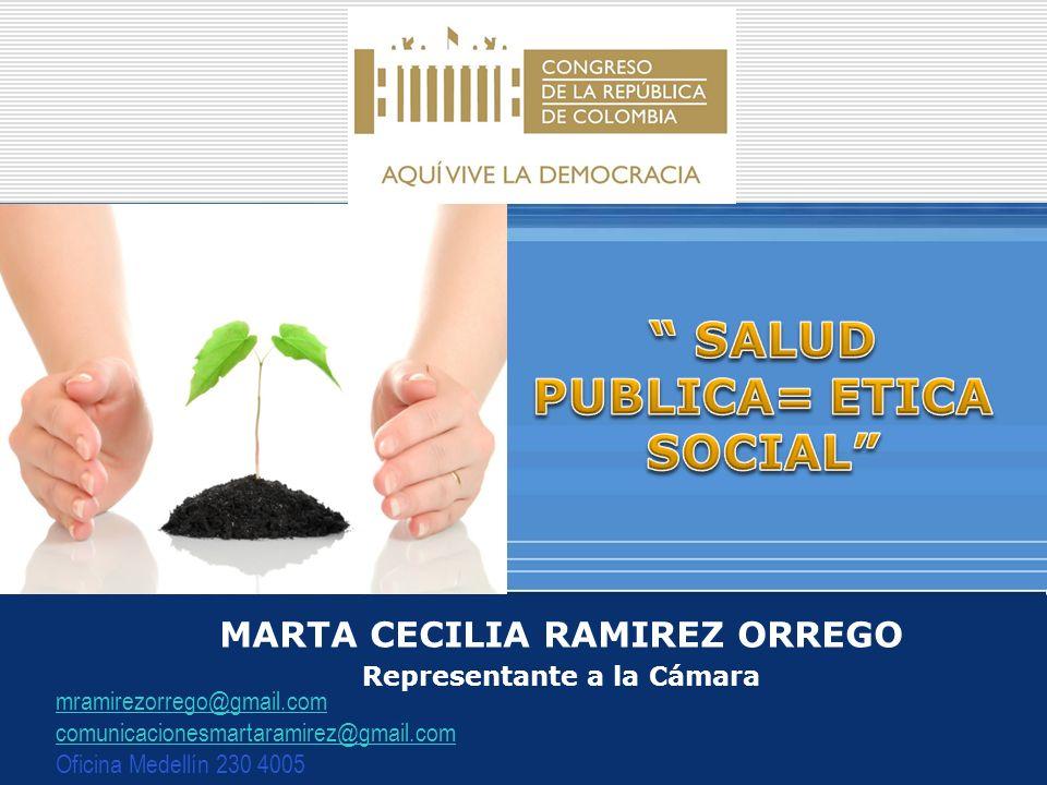 MARTA CECILIA RAMIREZ ORREGO Representante a la Cámara mramirezorrego@gmail.com comunicacionesmartaramirez@gmail.com Oficina Medellín 230 4005
