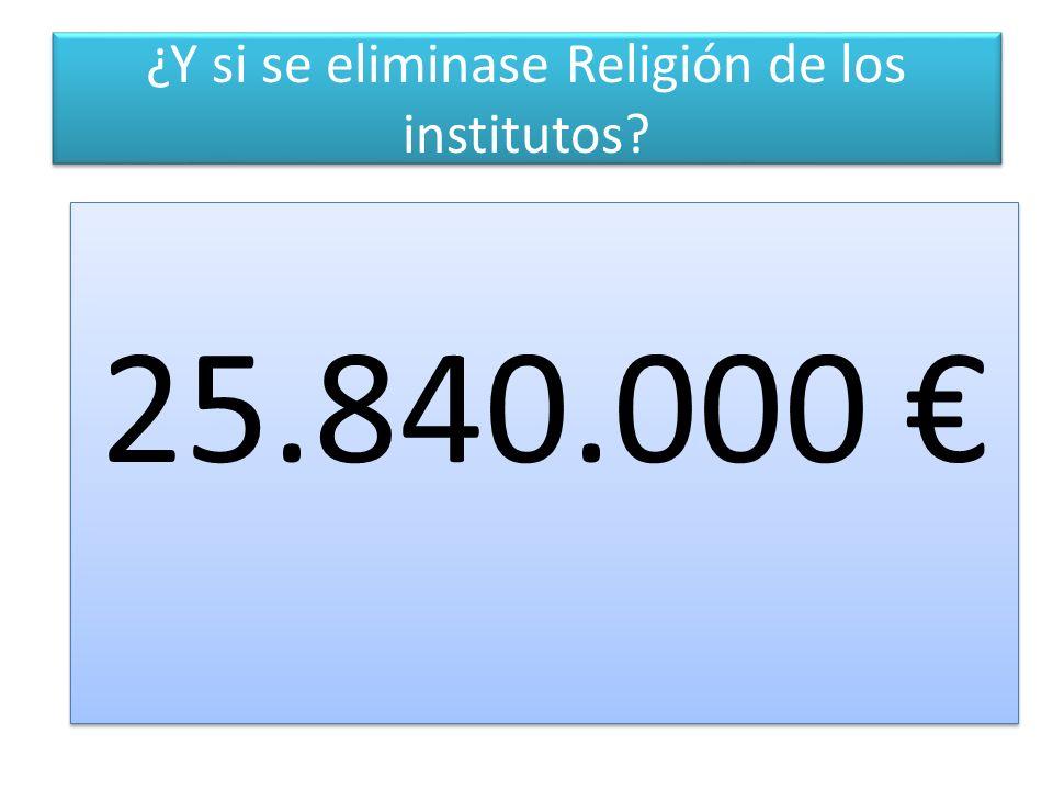 ¿Y si se eliminase Religión de los institutos 25.840.000 25.840.000