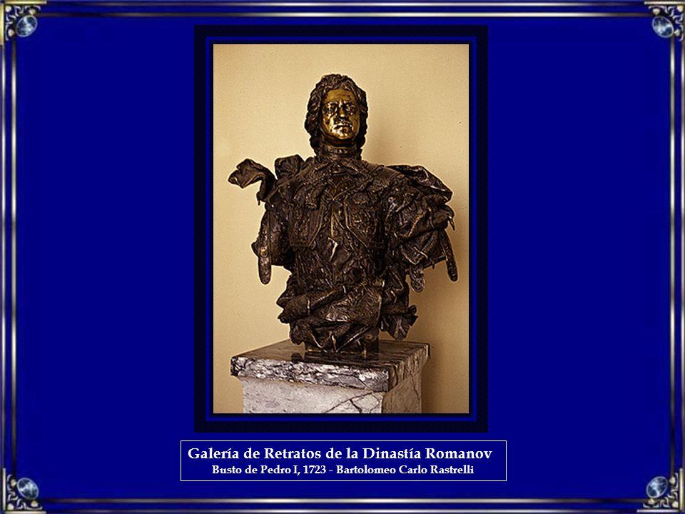 Galería de Retratos de la Dinastía Romanov Busto de Pedro I, 1723 - Bartolomeo Carlo Rastrelli