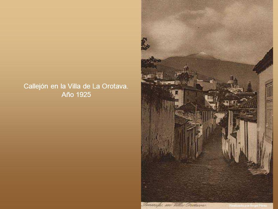 Realizado por Ángel Pérez Calle de Viera y Clavijo en el año 1924. (S/C de Tenerife)