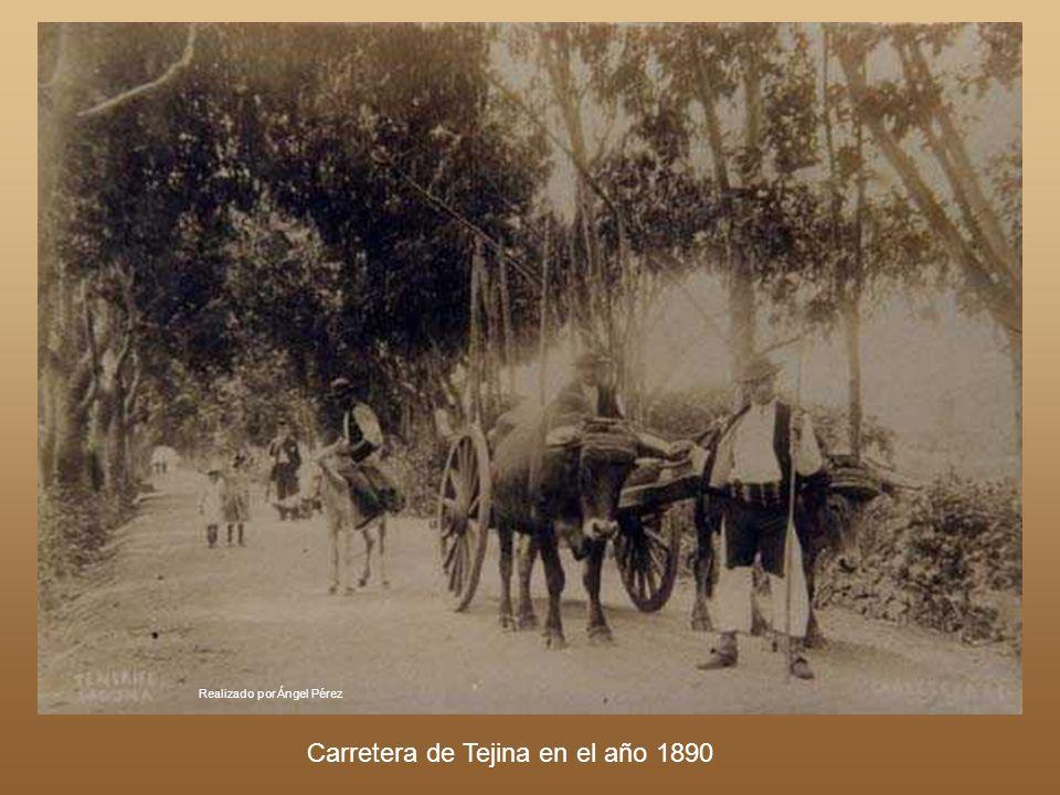 Realizado por Ángel Pérez Año 1925. Carretera de San Miguel de Geneto (Entre La Laguna y El Sobradillo)