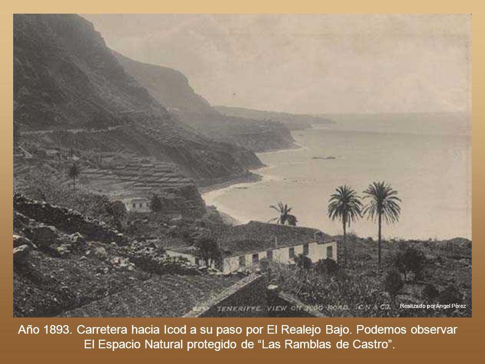 Realizado por Ángel Pérez En el año 1893 este aspecto presentaba la Carretera del Norte a su paso por La Matanza de Acentejo