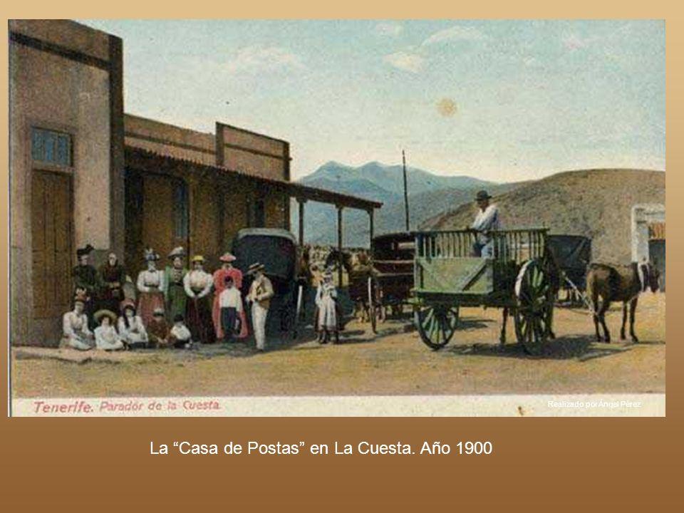 Realizado por Ángel Pérez Año 1893. Carretera hacia Icod a su paso por El Realejo Bajo. Podemos observar El Espacio Natural protegido de Las Ramblas d