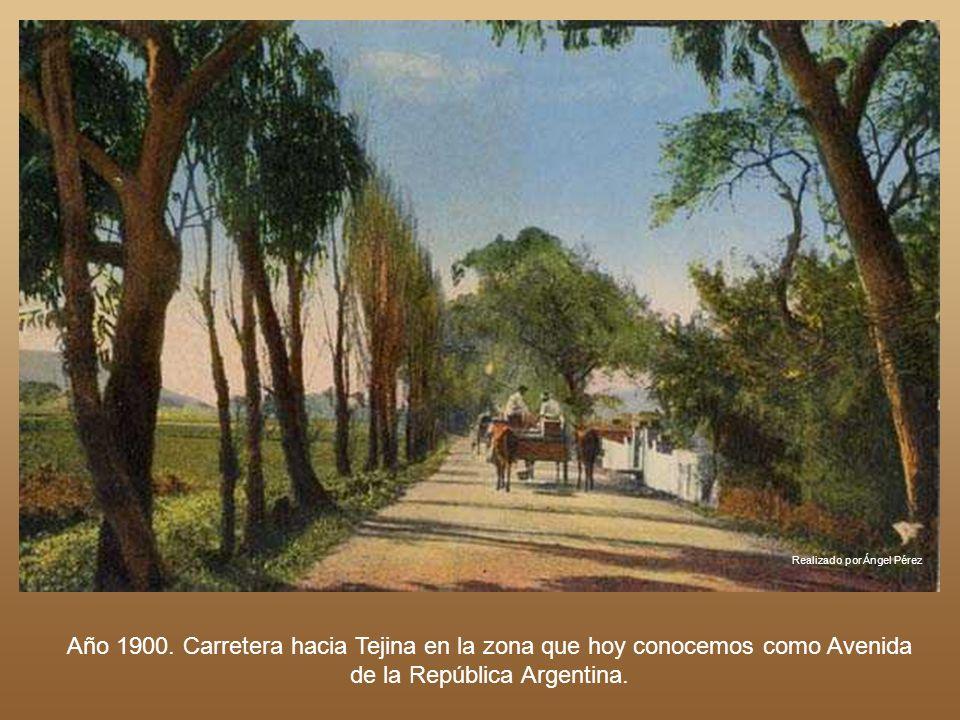 Realizado por Ángel Pérez La Casa de Postas en La Cuesta. Año 1900