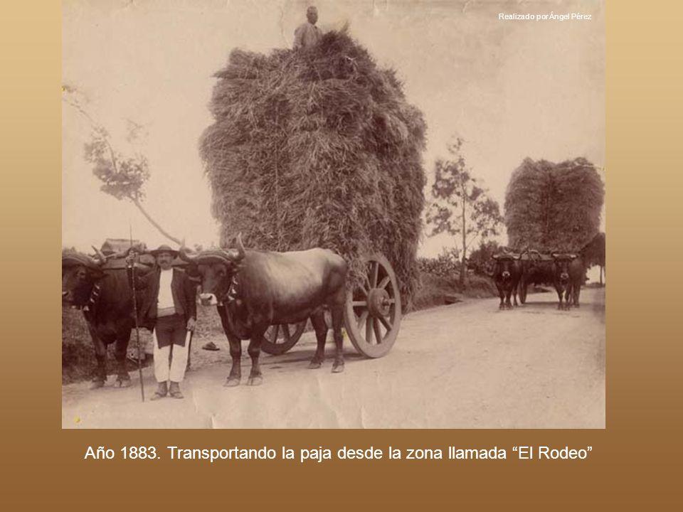Realizado por Ángel Pérez Año 1983. Carretera General a su paso por El Realejo Bajo