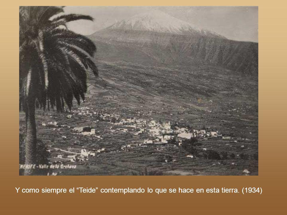 Realizado por Ángel Pérez Año 1900. Carretera hacia Tejina en la zona que hoy conocemos como Avenida de la República Argentina.