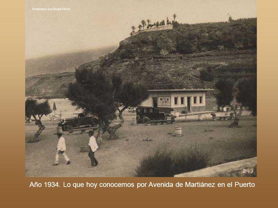 Realizado por Ángel Pérez Año 1893.Carretera hacia Icod a su paso por El Realejo Bajo.
