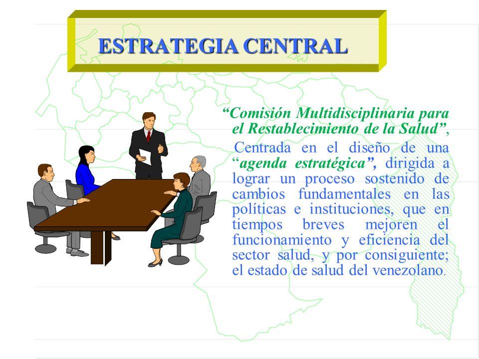 Comisión Multidisciplinaria para el Restablecimiento de la Salud, Centrada en el diseño de unaagenda estratégica, dirigida a lograr un proceso sosteni
