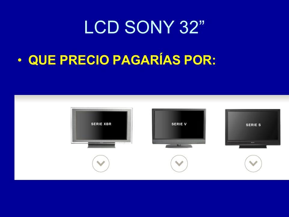 LCD SONY 32 QUE PRECIO PAGARÍAS POR: