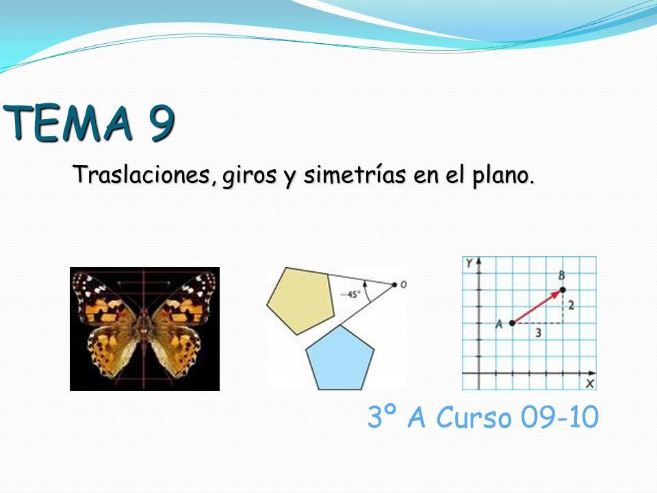 TEMA 9 Traslaciones, giros y simetrías en el plano. 3º A Curso 09-10