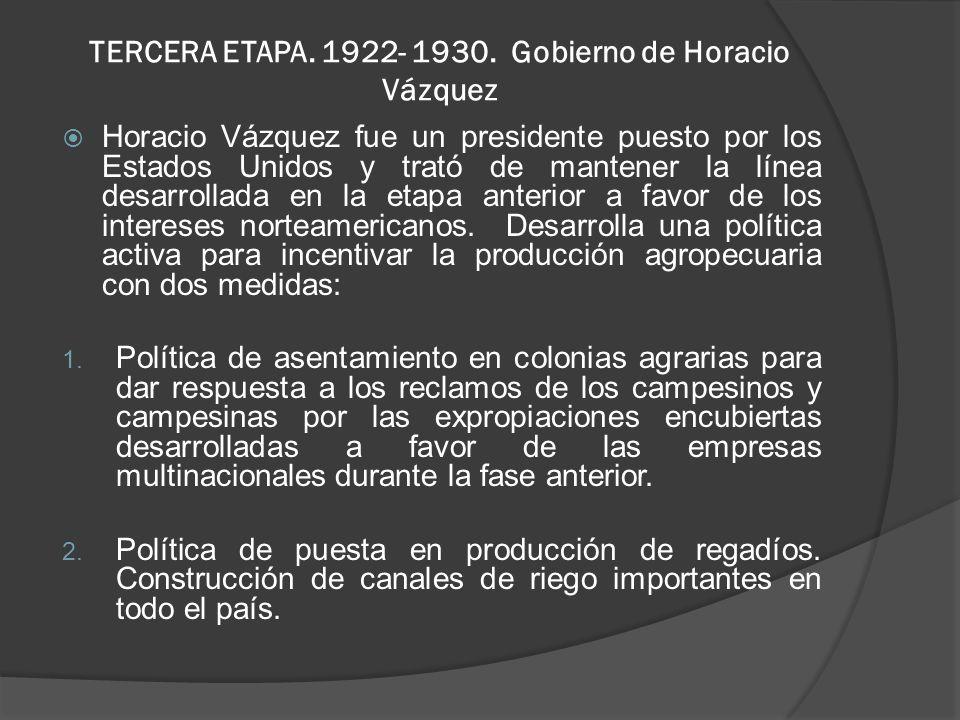 TERCERA ETAPA.1922- 1930.