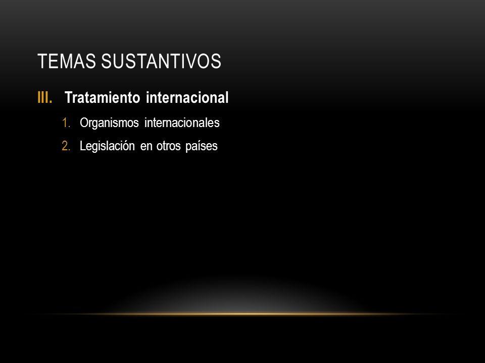 TEMAS SUSTANTIVOS IV.