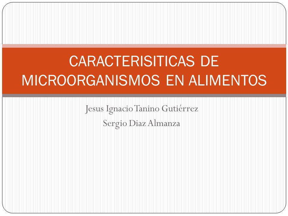 Jesus Ignacio Tanino Gutiérrez Sergio Diaz Almanza CARACTERISITICAS DE MICROORGANISMOS EN ALIMENTOS