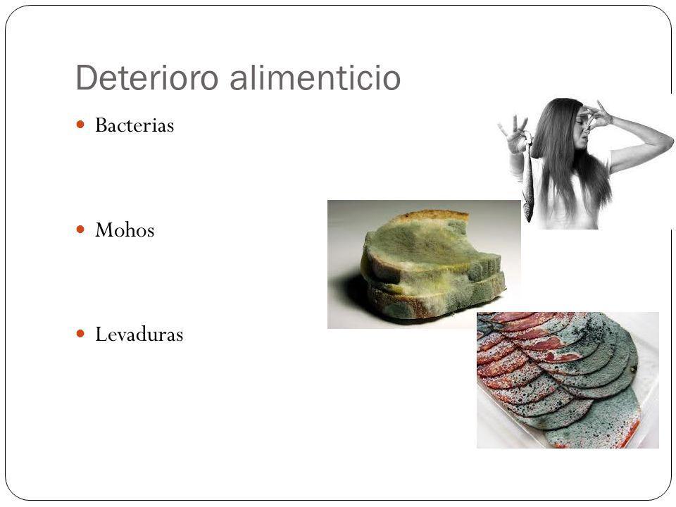 Deterioro alimenticio Bacterias Mohos Levaduras