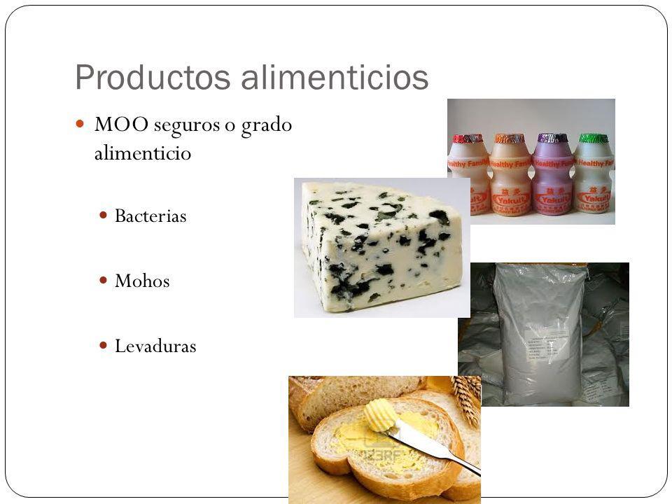 Productos alimenticios MOO seguros o grado alimenticio Bacterias Mohos Levaduras
