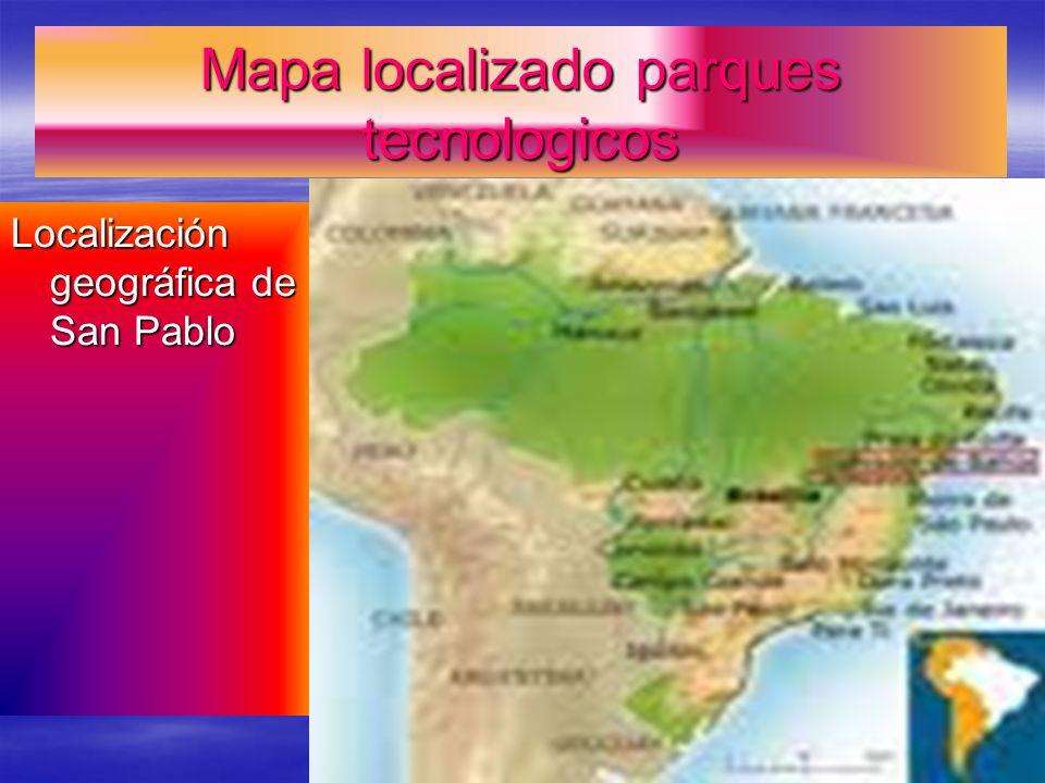 Mapa localizado parques tecnologicos Localización geográfica de San Pablo
