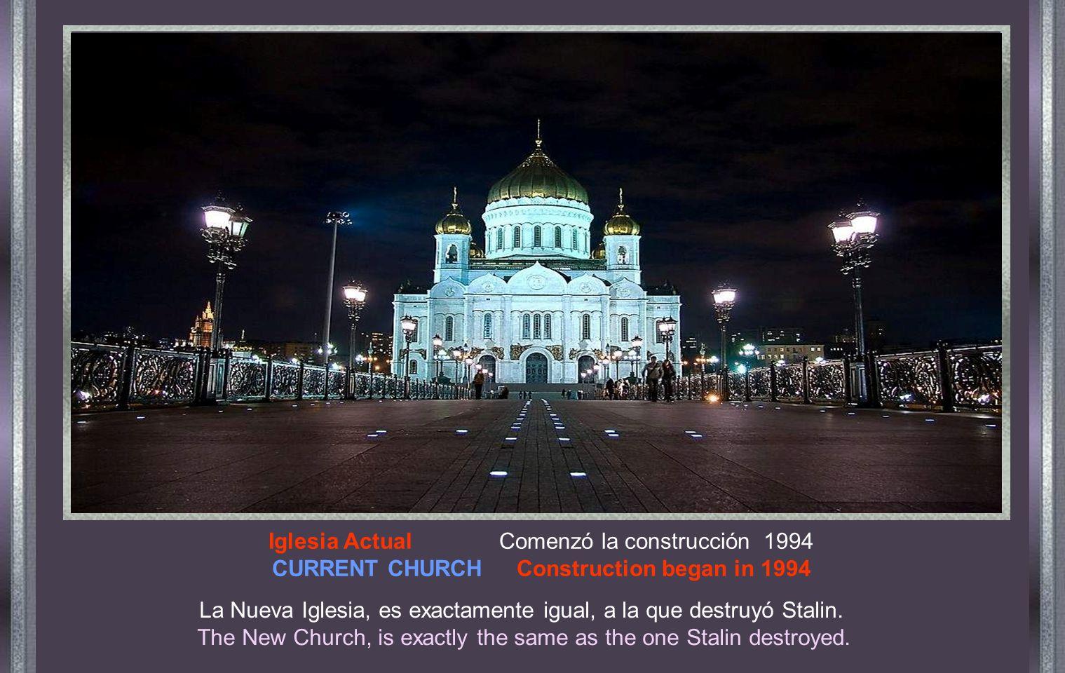 Fotografía oficial Official and original photo El 5 de diciembre de 1931, por orden de Stalin, la iglesia fue dinamitada.