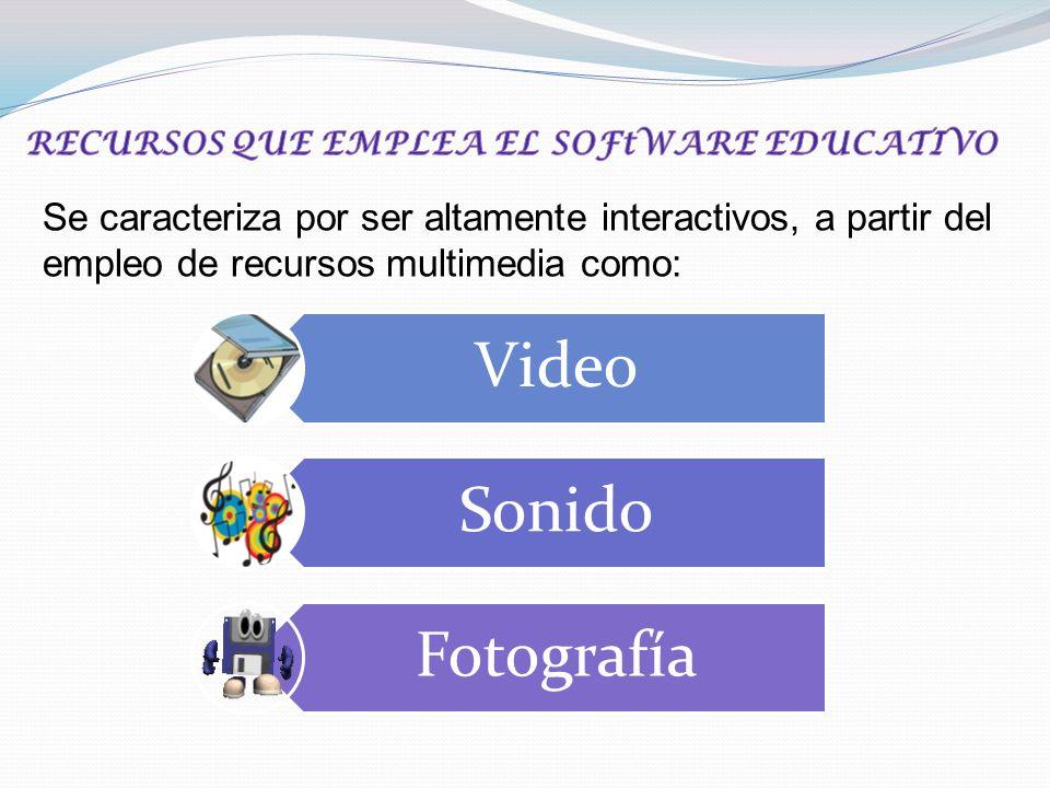 Se caracteriza por ser altamente interactivos, a partir del empleo de recursos multimedia como: Video Sonido Fotografía