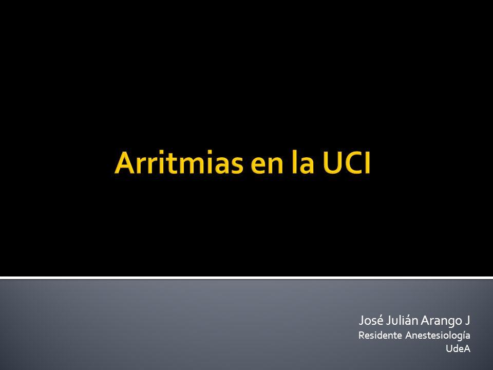 José Julián Arango J Residente Anestesiología UdeA