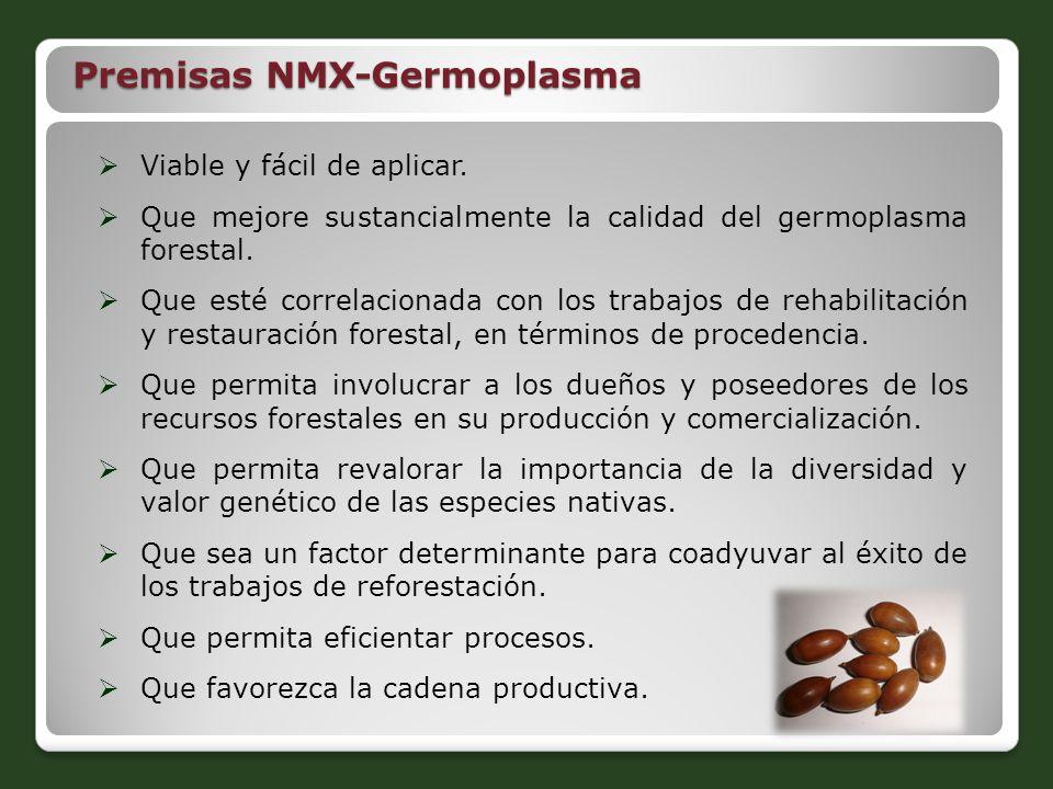 Viable y fácil de aplicar. Que mejore sustancialmente la calidad del germoplasma forestal. Que esté correlacionada con los trabajos de rehabilitación