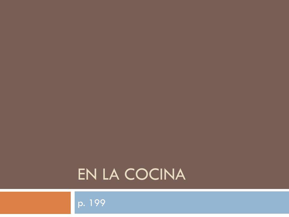 EN LA COCINA p. 199
