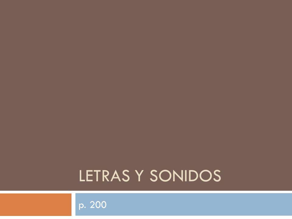 LETRAS Y SONIDOS p. 200