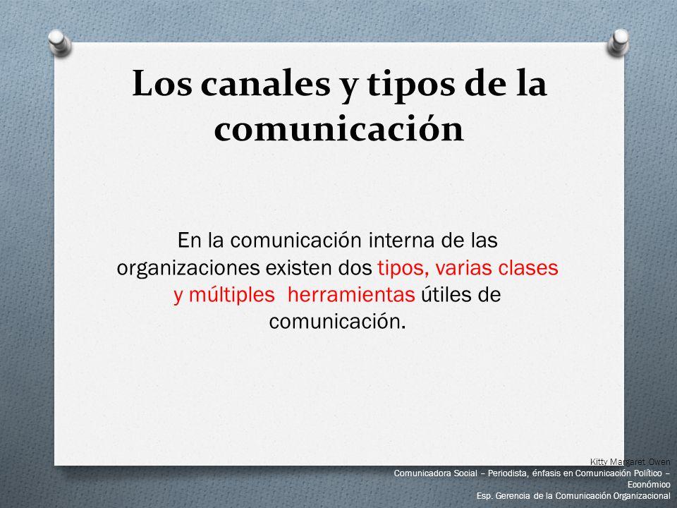 En la comunicación interna de las organizaciones existen dos tipos, varias clases y múltiples herramientas útiles de comunicación. Los canales y tipos