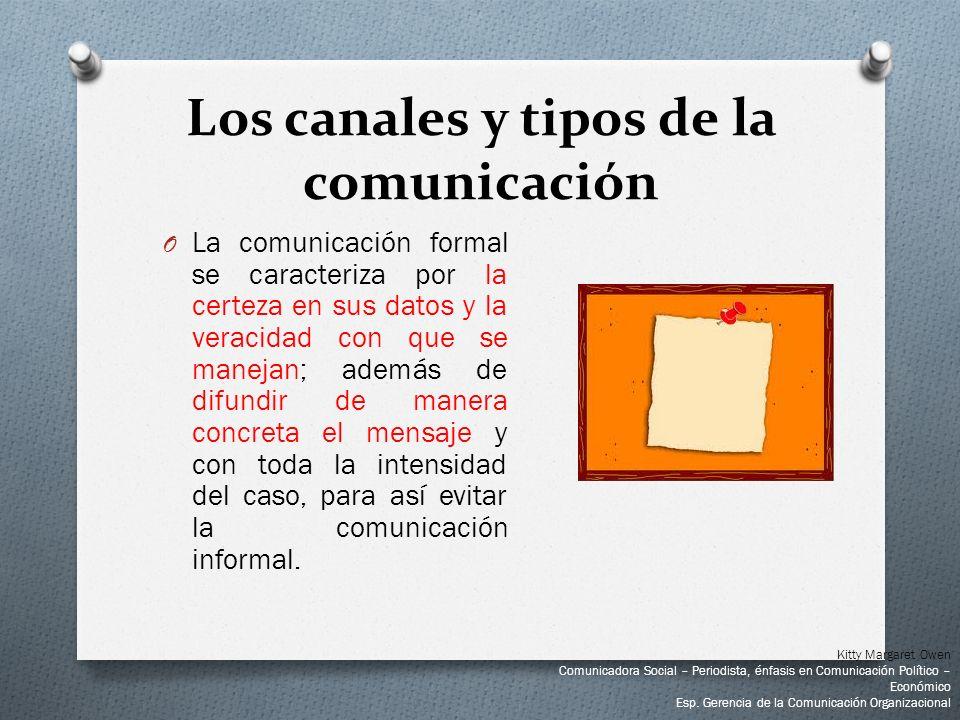 O La comunicación formal se caracteriza por la certeza en sus datos y la veracidad con que se manejan; además de difundir de manera concreta el mensaj