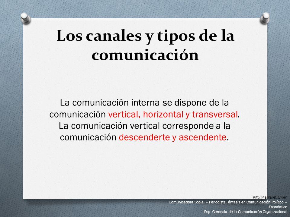 La comunicación interna se dispone de la comunicación vertical, horizontal y transversal. La comunicación vertical corresponde a la comunicación desce