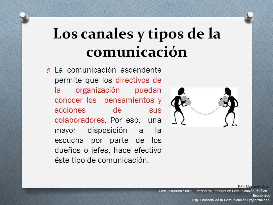 O La comunicación ascendente permite que los directivos de la organización puedan conocer los pensamientos y acciones de sus colaboradores. Por eso, u