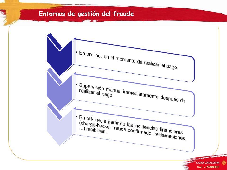 Dept. e-COMMERCE Entornos de gestión del fraude